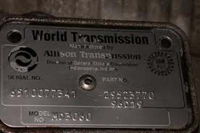 Allison 1000/2000 transmission Tech tips